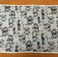 Printed microfiber cleaning drying pet cloth