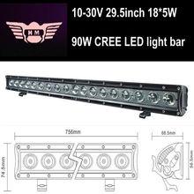 USA LED 29.5inch 10-30V 18*5W 90W Single Row LED off-road lights