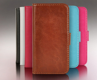 Crazy hours pattern detachable wallet leather case for iphone 5