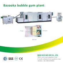 Food process bubble gum manufacturing machine