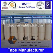 Clear Economy Carton Sealing Tape BOPP Jumbo Roll