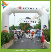 Inflatable start line and finish line sports event arch