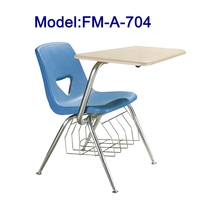 FM-A-704 Plastic student chair with tablet arm for training