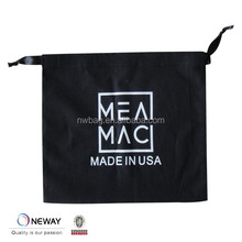 2015 China Factory Quality Black drawstring bag/Cotton Black Drawstring Bags/Black Cotton Drawstring Shoe Bag