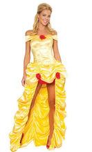 De Halloween Blanca Nieves, La Bella Durmiente del vestido falda estrella de oro en Europa y América muestra la etapa de ropa y
