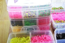 Best quality Box 3 layer loom bands sets/loom bands box /colorful loomBands