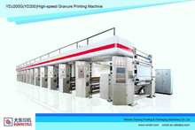 2015 CHINA supplier High-speed automatic color register in-line rotogravure machinery YDJ200G