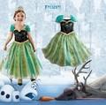 directa de la fábrica el último sales2015 congelado vestido de los niños parte ropas nuevos vestidos de fiesta para las niñas