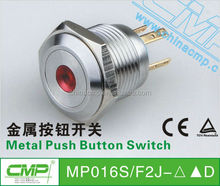 free samples export CMP metal push button micro switch 2NO2NC type stainless steel metal button switch led