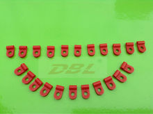 2014 venda quente vermelho clipes de nylon, braçadeira de cabo jumper