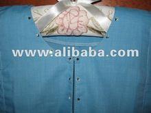 100% Cotton Turquoise Color Kids Baju Kurung Johor