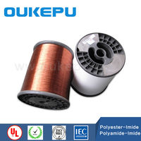 best supplier 180C polyester-imide swg round enameled copper wire