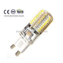 hot! high lumen g9 led 3w led g9 lamp g9 5w 96pcs3014 16*50mm ce rohs