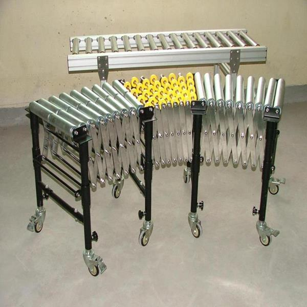 Manual retractable conveyor carbon steel single roller