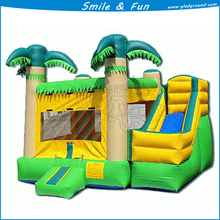 Inflatable for both bounce and slider type combo for 5 children with size 5*6m