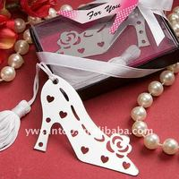 Beautiful Stylish Book Lovers Collection Wedding Party Favors High-heeled Shoe Bookmark