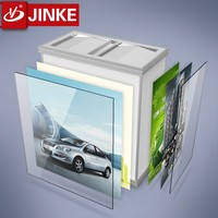 JINKE Fireproof New Design Mental Dustbin With Billboard Garbage containers