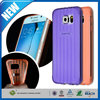 C&T Customized design new trendy clear stripes s line tpu case for samsung galaxy s6
