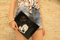 Mickey Minnie Mouse Embroidery leather tablet case for ipad 2/3/4 case