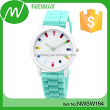Hot-sale silicone quartz wrist watch clock wrist watch