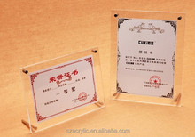 acrylic certificate photo display frame