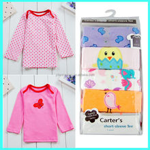 Wholesale 5 pack baby T shirt embroidered cute baby shirt tops