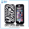 Zebra-Stripe Mobile Phone Case for iphone 6 plus Three in One Protective Cover 01