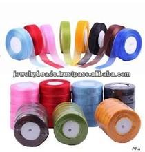 Cable de cinta de fabricación de la joyería suministros- varios color de la cinta de la cinta trim carta de colores