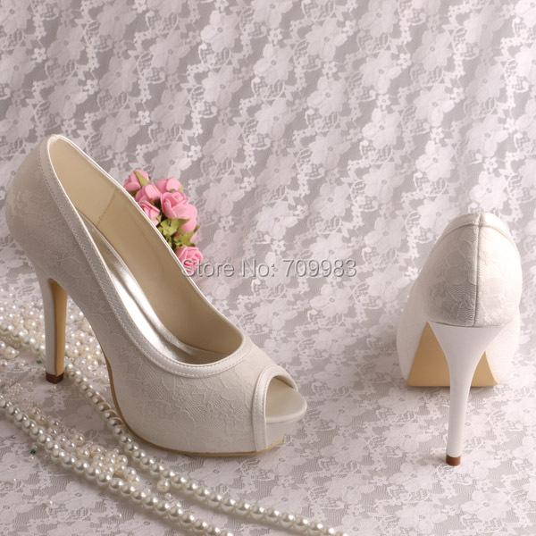 свадебные белые туфли фото