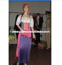Para mujer misterioso adivino circo gitana disfraz de Halloween