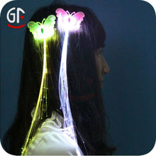 Most Popular Fancy Cheap Led Glowing Hair Braids For Festival Decoration