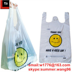 custom made degradable shopping plastic bag