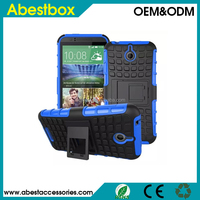 For HTC Desire 510 case cover Gear design robot pc silicone dual layer combo stand case,