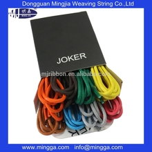 multi color de algodón encerado cordones de los zapatos al por mayor de alta calidad
