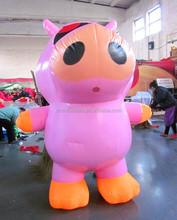 Costumi gonfiabili cartoon maiale per la pubblicità/maiale gonfiabile