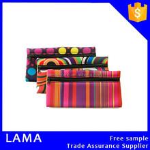 Colorful Printed Neoprene Zipper Pencil Bag