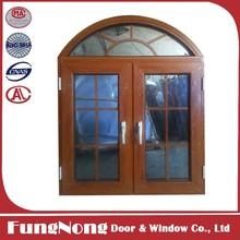 Popular design aluminum casement window with window grill