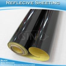 Súper grado Flexible negro vinilo adhesivo reflectante papel adhesivo