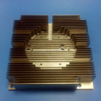 Square CPU heat sink aluminum extrusion with 6cm DC fan 95x95mm nickle plated