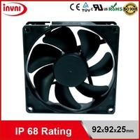 SUNON 9225 92mm 92x92 Ventilation Exhaust Outdoor IP68 Dustproof & Waterproof Fan 24V DC Axial 92x92x25 mm (GE92252B1-0000-AE9)