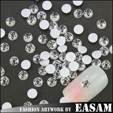 half cut pearls,nail pearl Easam nail art decoration