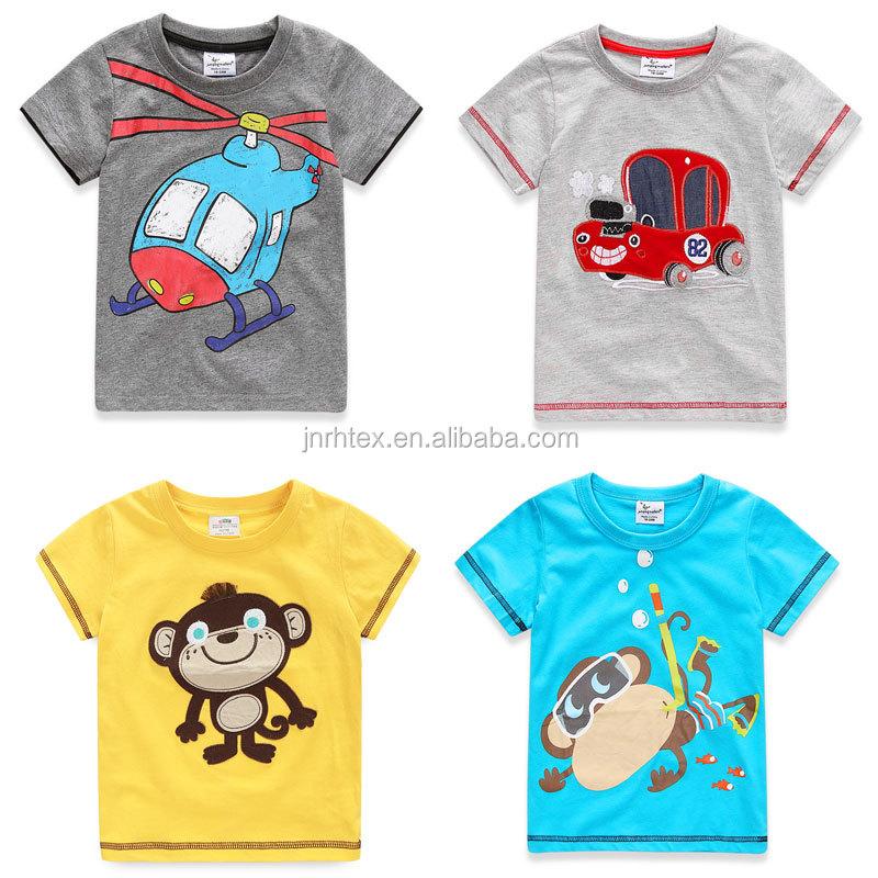 Oem cotton screen print boys kids t shirt design wholesale for T shirt design wholesale