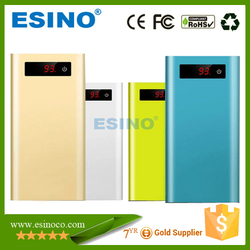 2015 High Quality Portable mobile slim Power Bank 10400mah metal case with screen