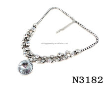 N3182 Fashion Shining Crystal Pendant Lariat Necklace