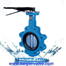 wafer type long stem butterfly valve