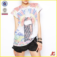 Lady Zipper harajuku color women printing 3d t-shirts