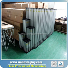 wholesale US style anti-slip smart stage V2 with 3' by 3' building stage deck for outdoor/event/dj stage