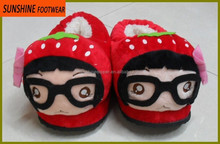 cut kids Plush Animal Slippers, Winter indoor shoes