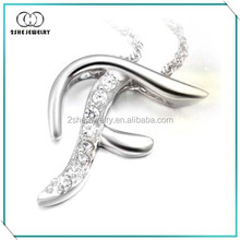 Fashion jewelry 925 Sterling silver alphabet pendant