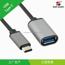 Fonctionnelle USB Type C à femelle USB câble 0.2 M 24AWG câble USB 3.0 chine continentale
